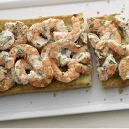 Creamy Garlic Shrimp Toast