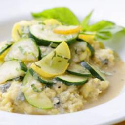 Creamy Gorgonzola Polenta with Summer Squash Sauté