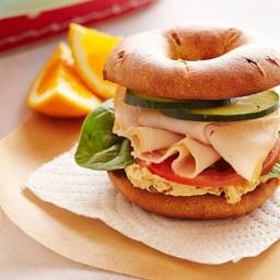 Creamy Hummus and Smoked Turkey Sandwich