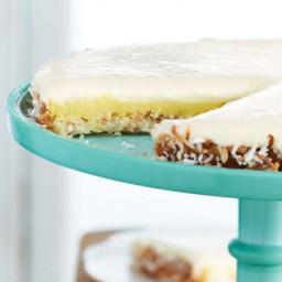 Creamy Lemon Coconut Macaroon Tart