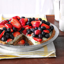 Creamy Lime Pie with Fresh Berries Recipe