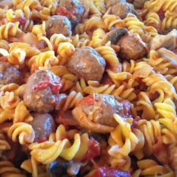 Creamy Sausage Meatballs with Mustard Pasta