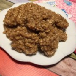 Creamy No Bake Peanut Butter Oatmeal Cookies