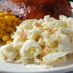 Creamy No Mayo Coleslaw (low fat, low carb)