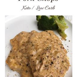 Creamy Parmesan Garlic Pork Chops {Keto / Low Carb}