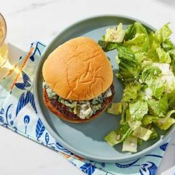 Creamy Poblano Burger with Lime Cotija Salad