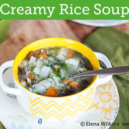 Creamy Rice Soup in 20 Minutes