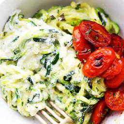Creamy Ricotta Zucchini Noodles
