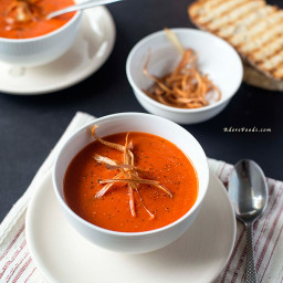 Creamy roasted pepper soup