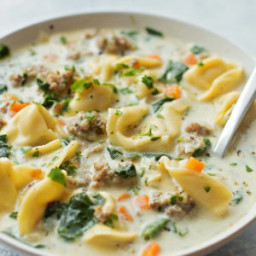 Creamy Sausage and Tortellini Soup