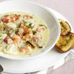Creamy seafood stew