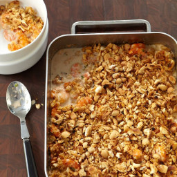 Creamy Shrimp Casserole with Buttery Crumbs