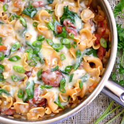 creamy spinach and sausage pasta