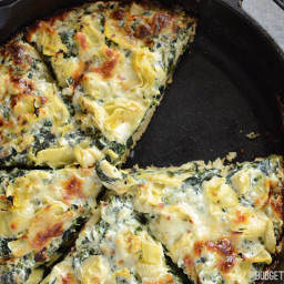 Creamy Spinach Artichoke Pizza