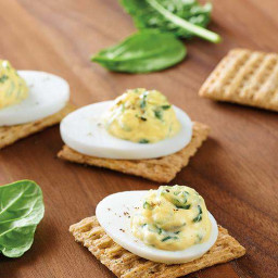 Creamy Spinach-Egg Toppers