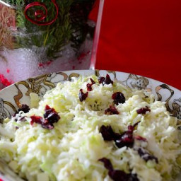 Creamy Sweet and Sour Cole Slaw With Cranberries