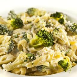 Creamy Tahini and Broccoli Pasta