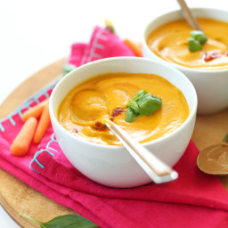 Creamy Thai Carrot Soup with Basil