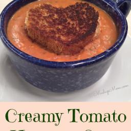 Creamy Tomato Hummus Soup