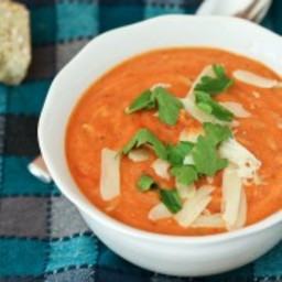 Creamy Tomato Soup with Whole Wheat Orzo