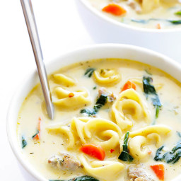 Creamy Tortellini and Sausage Soup