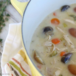 Creamy Turkey Veggie Soup (grain-free, dairy-free)