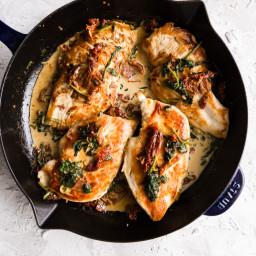 Creamy Tuscan Skillet Chicken