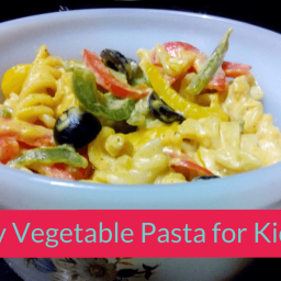 Creamy Vegetable Pasta Recipe for Kids