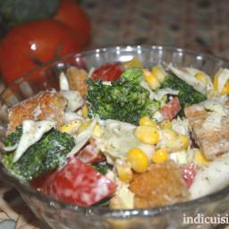 Creamy vegetable salad recipe - How to make cream veg salad