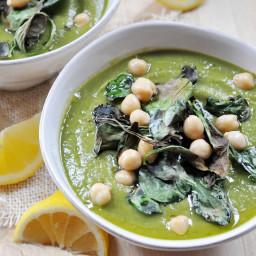 Creamy, Zesty Spinach Soup, Vegan + Gluten-Free