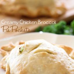 Creamy Chicken Broccoli Pie Pockets