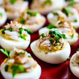Creole Crab-Stuffed Deviled Eggs