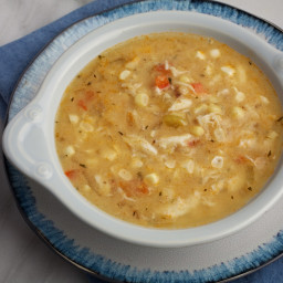 Creole-Spiced Fresh Corn and Crab Soup