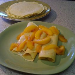 Crepes with Peaches