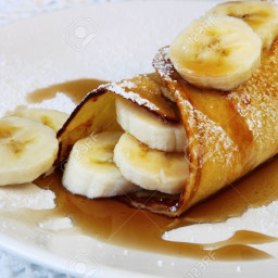 Crepe topping: Sauteed Bananas