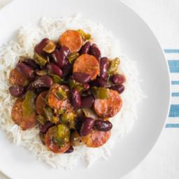 Crescent City Red Beans & Rice (Crock-Pot)
