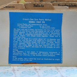 Crisco's Own Sure Pastry Method Double Fruit Pie