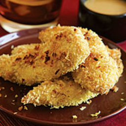 Crisp Curried Chicken Fingers with Honey Mustard Dipping Sauce