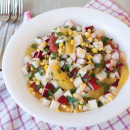 Crisp Radish, Corn, and Citrus Salad