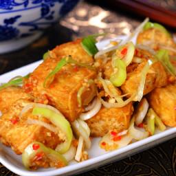 Crisp Tofu & Leek Salad