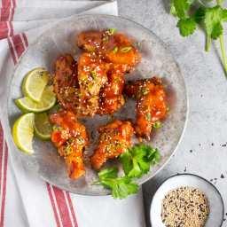 Crispy AF, Oven-Fried Sriracha-Honey Wings