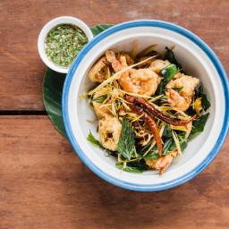 Crispy Calamari and Shrimp with Pepper-Lime Sauce