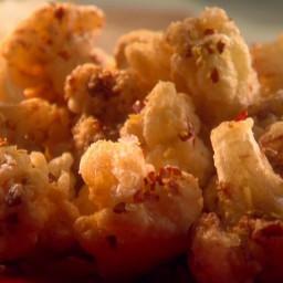 Crispy Cauliflower Florets with Citrus Salt