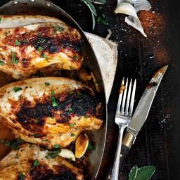 Crispy Chicken Breast with Sage and Prosciutto