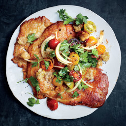 Crispy Chicken Cutlets with Cherry Tomato Panzanella