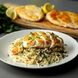 Crispy Chicken Lemon Spaghetti
