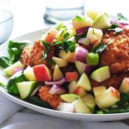 Crispy Chicken with Apple Salad