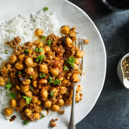 Crispy Chickpeas With Ground Meat