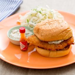 Crispy Fish Sandwicheswith Coleslaw and Homemade Tartar Sauce