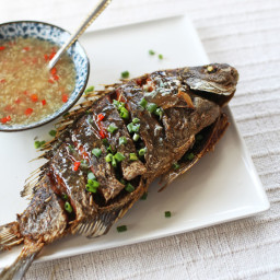 Crispy Fried Fish in Ginger Garlic Sauce